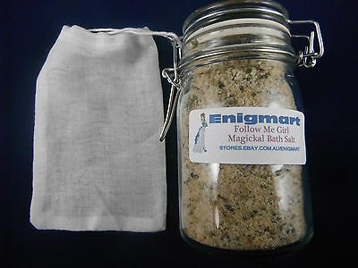 Follow Me Girl Magickal Bath Salts 200ml. Attract and dominate women!