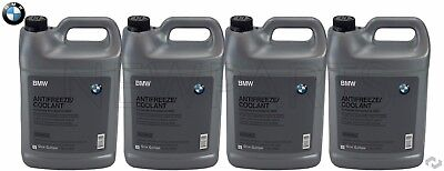 4x Genuine BMW Mini Coolant Antifreeze Blue Color 100% Concentrated 1 Gallon