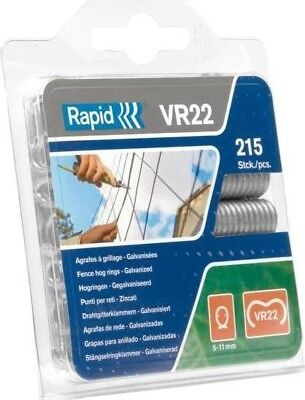 Rapid VR22 Fence Hog Rings Pack 215 Galvanised