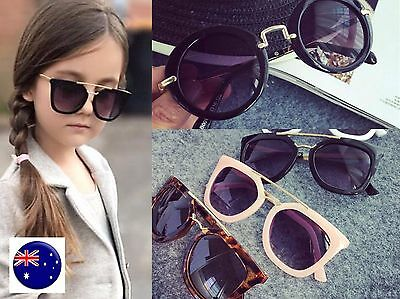 Children Girl Boy Kids Retro Frame Fashion sun beach eye sunglasses Prop