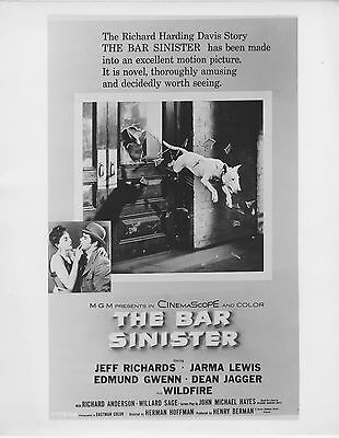 BULL TERRIER/BAR SINISTER original 1955 artwork movie still photo JEFF RICHARDS