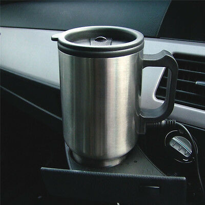 Car Heated Warm Stainless Steel Travel Electric Mug Kettle Jug On The Go 12V