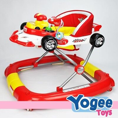 Grace Baby F1 Racing Car Themed 2-in-1 Baby Walker & Rocker