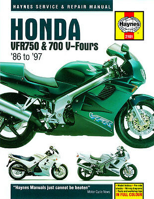 Haynes Manual 2101 - Honda VFR750 & 700 V-Fours (86 - 97) workshop/service