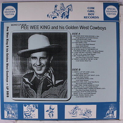 PEE WEE KING: And His Golden West Cowboys LP (Germany) Country