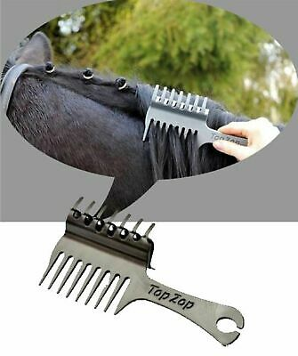 Top Zop Plaiting Comb - Brilliant All-In-One Tool for Perfect Plaits! 3 Colours