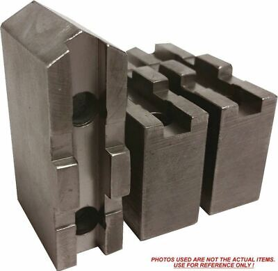 "Wk-6152P Steel Soft Jaws For Metric Tongue & Groove 6"" Chuck W/a 1.5"" Ht 3Pc Set"