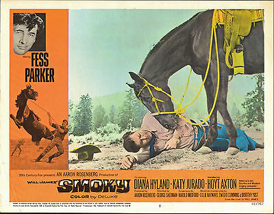 SMOKY original 1966 lobby card FESS PARKER 11x14 movie poster