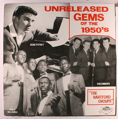 VARIOUS: Unreleased Gems Of The 50's LP (yellow wax) Vocal Groups