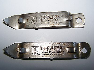 Lot of 2 Vintage Original Drewery's Beer Bottle openers - Rare