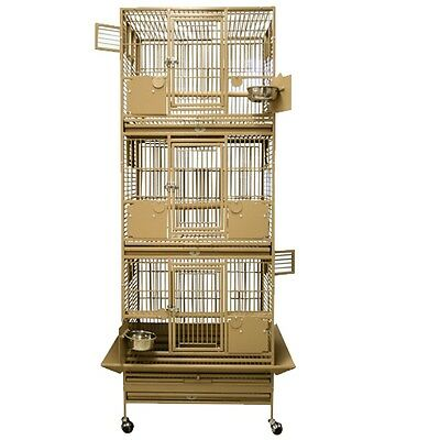SLFDD 2622  Space Saver triple stacked bird cage cages toy toys caiques conures