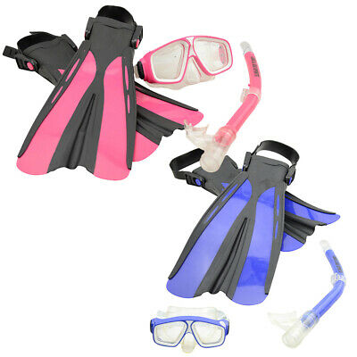 Land & Sea Junior Or Child Platypus Snorkel Bag Set - Available In Blue Or Pink