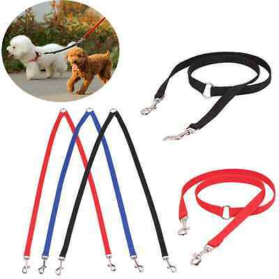 Pet Cat Dog Nylon Traction Rope Two Ways Double Dogs Couple Walking Leash CAD