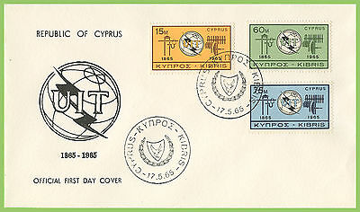 Cyprus 1965 ITU set on First Day Cover