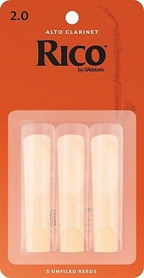 Rico by D'addario Reeds For Bb Clarinet (Strength 2)  '3 PACK'   P/No:RCA0320