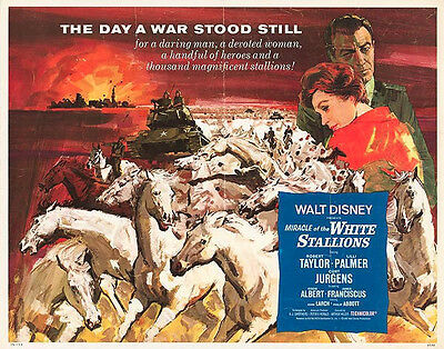 MIRACLE OF THE WHITE STALLIONS/LIPPIZANERS original movie poster ROBERT TAYLOR