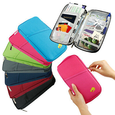 Travel Passport Credit ID Card Cash Wallet Purse Holder Case Document Bag