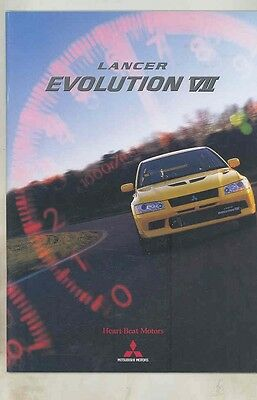2000 Mitsubishi Lancer Evolution VII Prestige Brochure Japanese wv1992