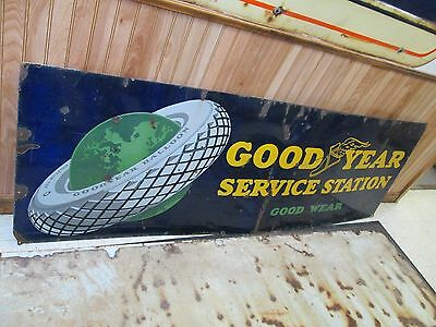Vintage Rare Good Year Green Earth Tire Sign 72''x24''