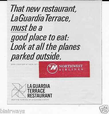 La Guardia Airport Terrace Resturant 1960 Must Be Good Place With All Planes Ad