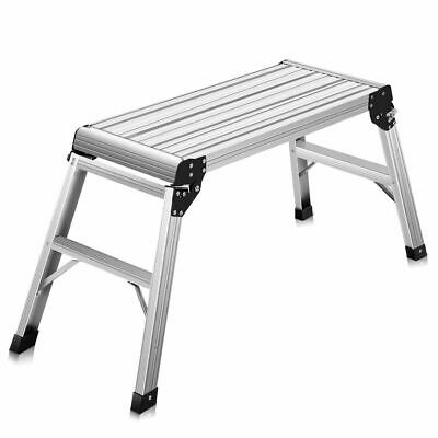 2015 HD EN131 Aluminum Platform Drywall Step Up Folding Work Bench Stool Ladder