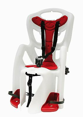 Bicycle children's seat Pepe Clamp white/red for Carrier assembly