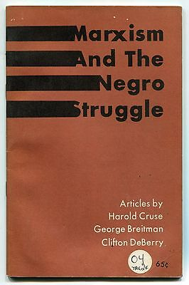 """1969 Vintage Booklet: """"MARXISM AND THE NEGRO STRUGGLE"""""""