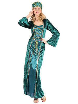 Ladies Juliet Maid Marion Fairytale Medieval Fancy Dress Costume