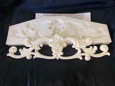 Silicone Rubber Mould     ~ Ornate Scrolls With Small Center Rose ~