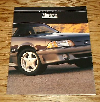 1992 Ford Mustang Catalog Sales Brochure GT 5.0L 92