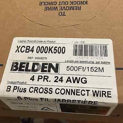 Belden B Plus Cross Connect Wire 4 Pair 24AWG #22208270 XCB4 000K500 500ft