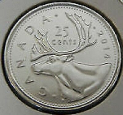 2014 Quarter 25¢ Twenty Five Cent '14 Canada-Canadian BU Coin UnCirculated RCM