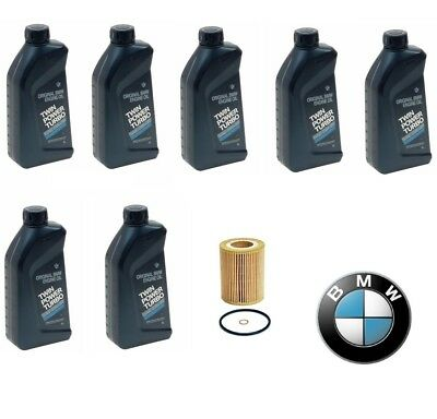 Genuine 7-Quarts Synthetic Bmw 5w30 Motor Oil &1-oem MANN Oil Filter for BMW