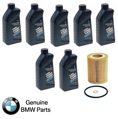 NEW BMW Engine Oil 5W-30 Synthetic Set of 7 Bottles + Engine Oil Filter