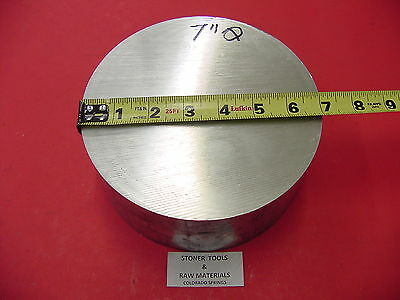 "7"" ALUMINUM 6061 ROUND ROD 3"" LONG T6511 7.00"" Diameter Solid Lathe Bar Stock"