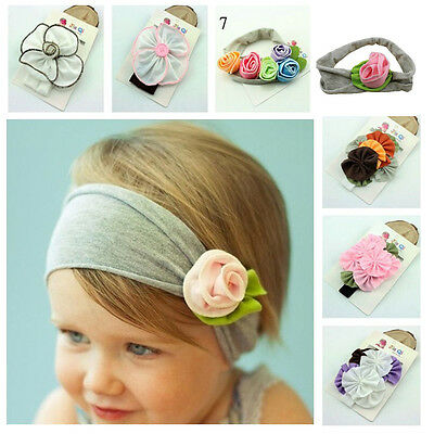 Newborn Baby Girl Kids Toddler Infant Flower Headband Hair Band Hair Accessories