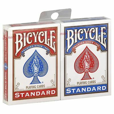 Bicycle Playing Cards Standard Rider Back  - 1 Red & 1 Blue Casino Poker Game