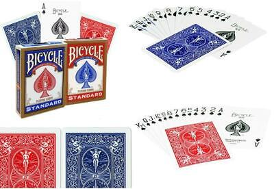 4 x Bicycle Playing Cards Decks 2 Red & 2 Blue Casino Poker Snap Family Games