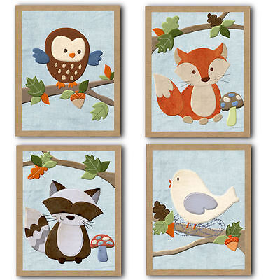 Original Forest Friends neutral WALL ART FOR NURSERY decor for baby's room