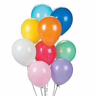"100Pcs of 12"" Assorted Coloured Balloons Party Decorations Birthday, Wedding"