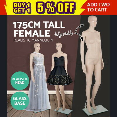 Full Body 175cm Female Mannequin Clothes Display Dressmaking Window Showcase