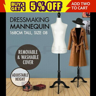 Female Mannequin 168cm Model Dressmaker Dummy Cloth Display Torso Tailor Window