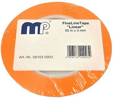 1 Rolle Fine Line Tape 3 mm x 55 m extra dünn orange Mipa Zierlinienband