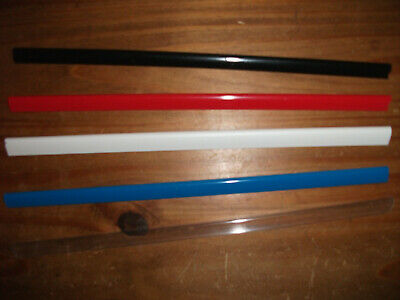 6 x A4 SLIDE BINDERS / SPINE BARS - 6MM CAPACITY - DURABLE - CHOICE OF COLOURS