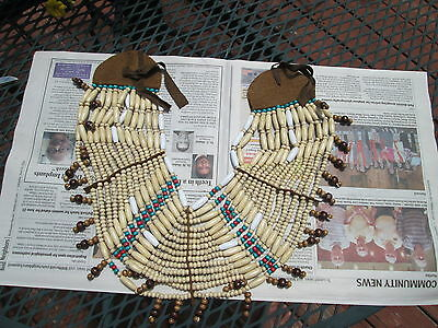 Native American / Indian Wooden Brown Beaded Neck BreastplateReproduction