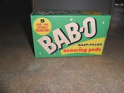 Bab-O Scouring Pads Vintage New In Box Kitchen Decoration