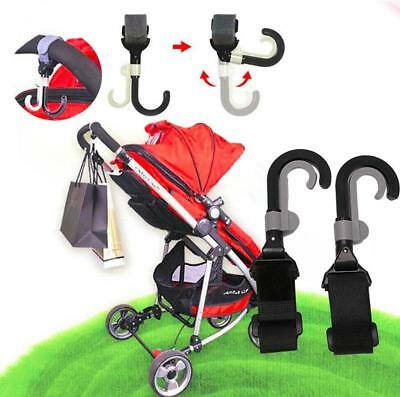 Infant Baby Stroller Hook Holder Pram Double Rotate Hook Pushchair Hanger - CB
