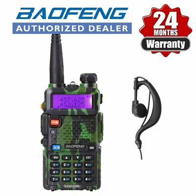 Baofeng UV-5R Green Dual Band UHF / VHF Two Way FM Ham Radio + UV-5R Earpiece AU