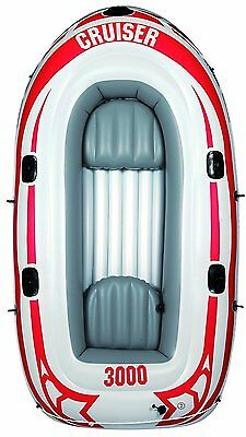 3 Person Inflatable Dinghy Stingray Dingy Boat Adult Children with Oars & Pump