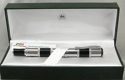 Monteverde Regatta Black & Chrome Rollerball Pen In Box - New